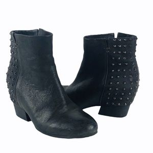 Gentle Souls Fierce Leather Spiked ankle booties